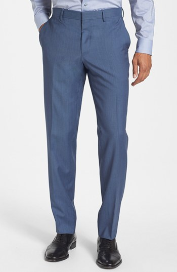 HUGO BOSS 'Genesis' Flat Front Trousers