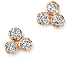 Bloomingdale's Diamond Three Stone Stud Earrings in 14K Rose Gold, 0.30 ct. t.w. - 100% Exclusive