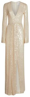 Galvan Saint Moritz Sequin-Embellished Gown
