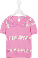 Mi Mi Sol - sequinned knitted top - kids - Cotton - 6 yrs