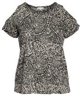 Lucky Brand Paisley Print Cold Shoulder Tee