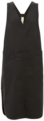 Lee Mathews - Workroom V-neck Patch-pocket Cotton Dress - Womens - Black