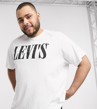 Levi's Big & Tall serif logo t-shirt in white