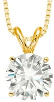 Charles & Colvard 1.90 CT. T.W. Forever Brilliant® Round Moissanite Solitaire Prong Set Pendant in 14K Yellow Gold