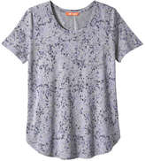 Joe Fresh Women's Print Tee, Light Grey Mix (Size XS)