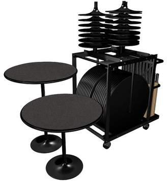 """Proenza Schouler Furniture 30"""" Round Folding Table Furniture"""