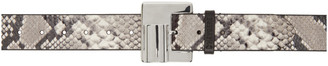 D'heygere Dheygere Black and Grey Snake Lighter Belt