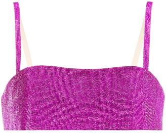 Nuè Crystal-Embellished Bra Top