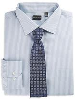 Rochester Alternating Stripe Dress Shirt Casual Male XL Big & Tall