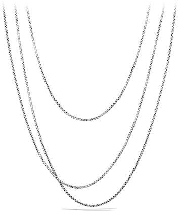 "David Yurman Small Box Chain, 72""L"