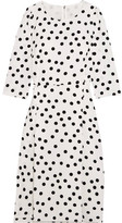 Dolce & Gabbana Polka-dot Cady Midi Dress - White