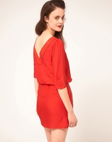 Sessun Dress In Silk With V Back