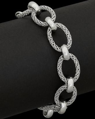 Italian Silver Mesh Oval Adjustable Link Bracelet