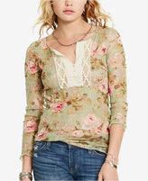 Denim & Supply Ralph Lauren Floral-Print Crochet Henley