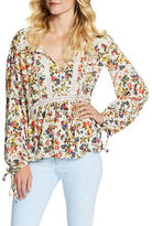 Jessica Simpson Floral-Printed Splitneck Blouse