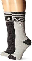 BearPaw Women's Full Terry Boot Socks (Pack of Two Pairs)