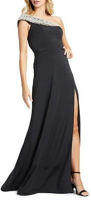 Mac Duggal One-Shoulder Sheath Gown