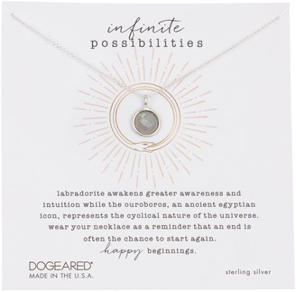 Dogeared Sterling Silver Infinite Possibilities Pendant Necklace