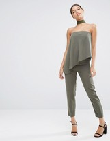 Asos Bandeau Jumpsuit with Ruffle Overlay