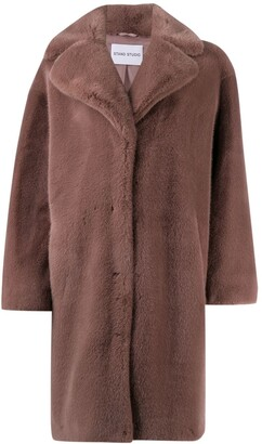 Stand Studio Camille oversized faux-fur coat