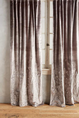 Anthropologie Floral Field Curtain