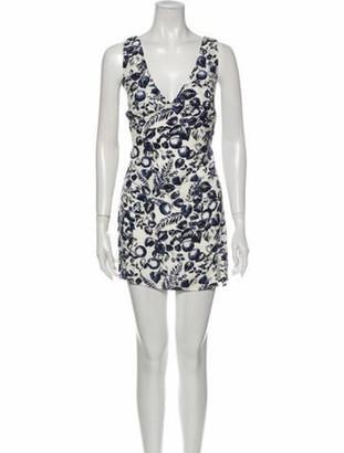 Reformation Printed Mini Dress w/ Tags Blue