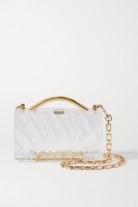 L'Afshar Amnis Mini Textured-acrylic Tote - Clear