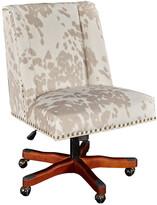 Linon Dobby Linen Cow Print Office Chair