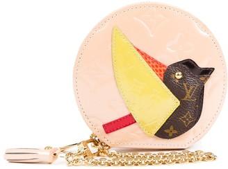 Louis Vuitton Rose Monogram Vernis Leather Animania Coin Purse