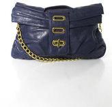 Big Buddha Purple Leather Gold Tone Chain Hardware Crossbody Handbag