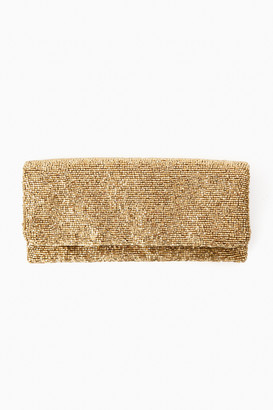 Pomander Place Gold Beaded Clutch