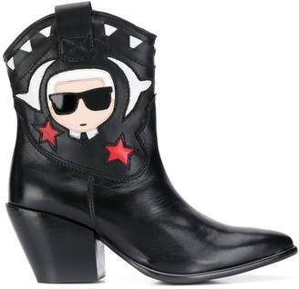 Karl Lagerfeld Paris Kavalier Ikonik cowboy boots