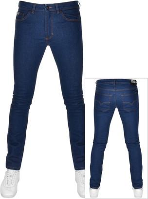 Versace Skinny Fit Jeans Blue