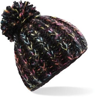Beechfield Womens/Ladies Aurora Pom Pom Beanie Hat (One Size) (Coral Sunset)