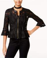 INC International Concepts I.n.c. Petite Lace Peplum Jacket, Created for Macy's
