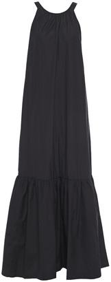 3.1 Phillip Lim Cutout Gathered Cotton-poplin Maxi Dress
