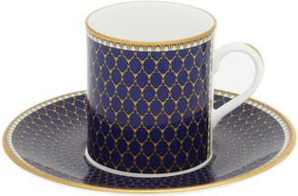 Halcyon Days Antler Trellis Coffee Cup & Saucer