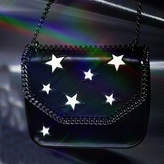 Stella McCartney Eco Alter Nappa and Stars Falabella Box Shoulder Bag in Black Eco Leather and Cotton