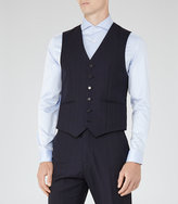 Reiss Baggio W - Checked Wool Waistcoat in Blue, Mens