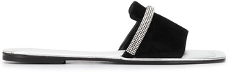 Pollini Open Toe Rhinestone-Embellished Sandals