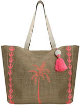 Aspiga Palm Tree Jute Beach Bag