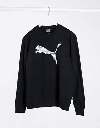 Puma crew neck sweatshirt in black