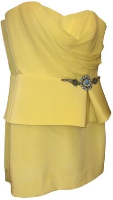 Marchesa Yellow Silk Dress for Women