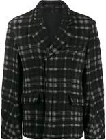 Ann Demeulemeester check pattern jacket