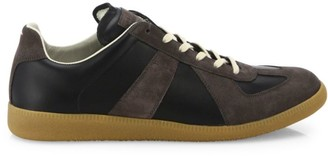 Maison Margiela Replica Suede Lace-Up Sneakers