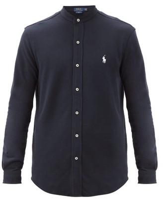 Polo Ralph Lauren Logo-embroidered Cotton-pique Shirt - Navy