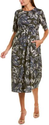 Max Mara Oria Silk-Blend Midi Dress