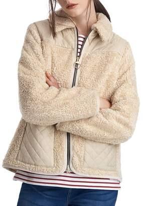 Barbour by ALEXACHUNG Hazel Casual Sherpa Fleece Jacket