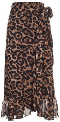 Bardot Leopard Wrap Skirt