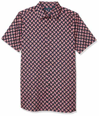 Perry Ellis Men's Big & Tall Long Sleeve Leaf Print Shirt